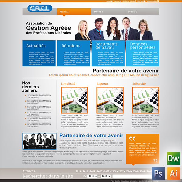 WEBDESIGN site internet CACL