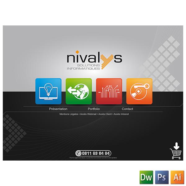 WEBDESIGN du site internet de la société NIVALYS